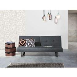Beliani Rozkładana sofa ruchome oparcie - dublin ciemny szary
