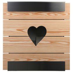 Skrzynka na listy glasnost wood heart modrzew marki Keilbach