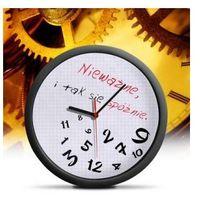 Zegar dla spóźnialskich - rozsypane godziny na tarczy