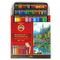Kredki Koh-i-noor akwarelowe Mondeluz 3714 + akcesoria - 72 kolory