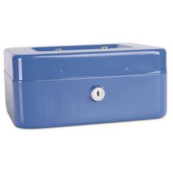 Kasetka na pieniądze DONAU, średnia, 200x90x160mm, niebieska (5901498037743)