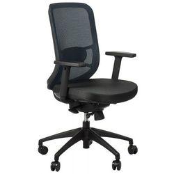 Krzesło obrotowe biurowe GN-310/NIEBIESKI z wysuwem siedziska, GN-310/BLACK/BLUE