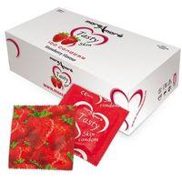 Truskawkowe prezerwatywy MoreAmore Condom Tasty Skin Strawberry 50 sztuk