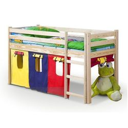 Drewniane łóżko piętrowe Melis