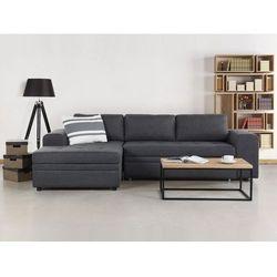 Beliani Sofa ciemnoszara - sofa narożna - sofa rozkładana - sofa tapicerowana - kiruna, kategoria: narożnik