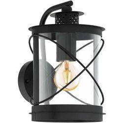 Ścienna LAMPA zewnętrzna HILBURN 94843 Eglo ogrodowa OPRAWA elewacyjna KINKIET latarnia outdoor IP44 czarna