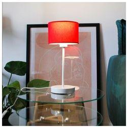 Biała lampka stołowa z czerwonym abażurem NICEA, 14525/18