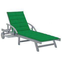 Zielony leżak ogrodowy - Solar, vidaxl_3061334