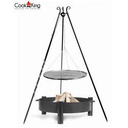 Zestaw 3w1, grill stal czarna 70cm + palenisko haiti 80cm marki Cook&king