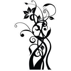 Szablon malarski z tworzywa flora 342 - plecione gałązki z kwiatami