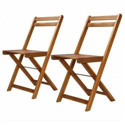 Elior Zestaw drewnianych krzeseł ogrodowych emert - brązowy