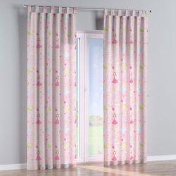 Dekoria zasłona na szelkach 1 szt., pastelowe wzory na różowym tle, 1szt 130x260 cm, little world