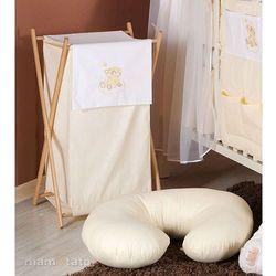 MAMO-TATO Kosz na bieliznę Miś na chmurce w kremie - produkt z kategorii- Kosze na pranie