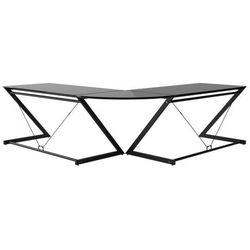 Unique Biurko dd z-line corner czarny stelaż i czarne szkło