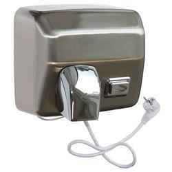 Elektryczna suszarka do rąk starflow z przyciskiem - obudowa metalowa, stal matowa marki Merida