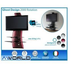 Półka pod TV z maskownicą GHOST DESIGN 2000 z rotacją, Meliconi z AV World