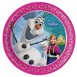 Talerzyki urodzinowe Olaf - Frozen - Kraina Lodu - 20 cm - 8 szt.