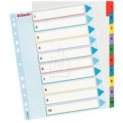 Przekładki kartonowe Maxi Esselte 1-10 kart 100208, BP10477
