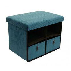 Praktyczna pufa Tubbi - niebieska, kolor niebieski