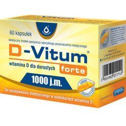 D-Vitum Forte® 1000 j.m., witamina D 60 kapsułek (Witaminy i minerały)