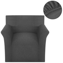Vidaxl elastyczny pokrowiec na fotel, prążkowany, szary (8718475956709)