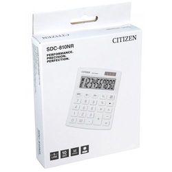 Kalkulator biurowy CITIZEN SDC-810NRWHE, 10-cyfrowy, 127x105mm, biały