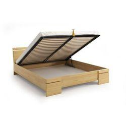 Skandica Łóżko drewniane sosnowe ze skrzynią na pościel sparta maxi & st 120-200x200