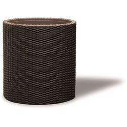 Doniczka KETER Medium Cylinder Planter - Brązowy + DARMOWY TRANSPORT! + Zamów z DOSTAWĄ JUTRO!