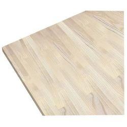 Blat drewniany 60 x 27 x 300 cm jesion bielony (5902670110506)