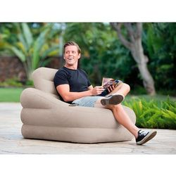 Fotel dmuchany ze zdejmowanym oparciem 97 x 107 x 71 cm INTEX 68587 (6941057403564)