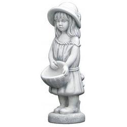 Figura ogrodowa betonowa dziewczynka z donicą 66cm