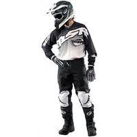 Msr  racing koszulka cross axxis kolor czarny/biały