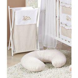 MAMO-TATO Kosz na bieliznę Śpiący miś brąz z białym, kup u jednego z partnerów