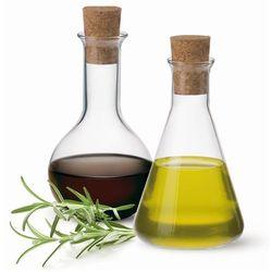 Zestaw 2 Karafek 250 ml Olej/Ocet, Simax - produkt z kategorii- Pojemniki na przyprawy
