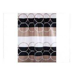 Zasłonka prysznicowa tekstylna 1,8x 2,0 m circle marki Bisk