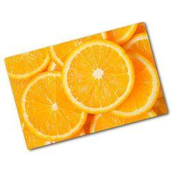 Deska kuchenna duża szklana Plastry pomarańczy