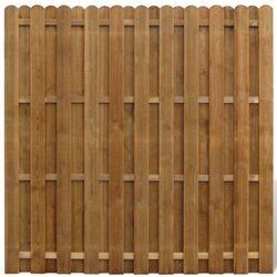 vidaXL Płot sztachetowy drewniany (8718475919544)
