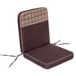 Poduszka coffee low - brązowa z beżową kratką top - 97x47 cm marki Hobbygarden