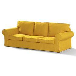 Dekoria Pokrowiec na sofę Ektorp 3-osobową, nierozkładaną, musztardowy szenil, Sofa Ektorp 3-osobowa, Etna