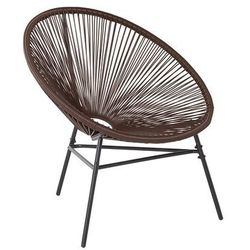 Krzesło rattanowe brązowe ACAPULCO