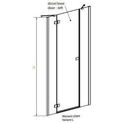 Radaway Fuenta New DWJS drzwi wnękowe jednoczęściowe lewe - 110 cm 384030-01-01L - produkt z kategorii- Drz