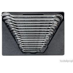 King tony Zestaw kluczy płasko-oczkowych 16cz. 8 - 32mm, wkład do wózka 9-1216mr03 (4710591948020)