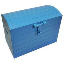 Skrzynia drewniana niebieska