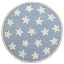 Kids concept Dywan okrągły  - gwiazdki niebieskie