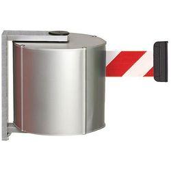 Kaseta z pasem, z aluminium, przykręcany z zaciskiem ściennym, kolor pasa: czerw