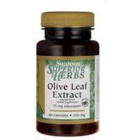 Swanson Olive Leaf - Liść Oliwny 500mg 60 kaps., SWANSON