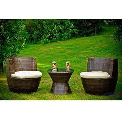 Zestaw mebli ogrodowych MODICO ciemny brąz (ZO.016.001), marki Bello Giardino do zakupu w GardenWorld