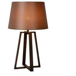 COFFEE - Lampa stojąca Metal/Tkanina Rdza Wys.64cm, kolor brąz