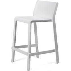 Stołek wysoki ogrodowy Trill Mini biały, kolor biały