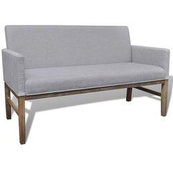 Vidaxl  sofa z drewnianą podstawą i miękką tkaniną w jasno szarym kolorze, kategoria: sofy